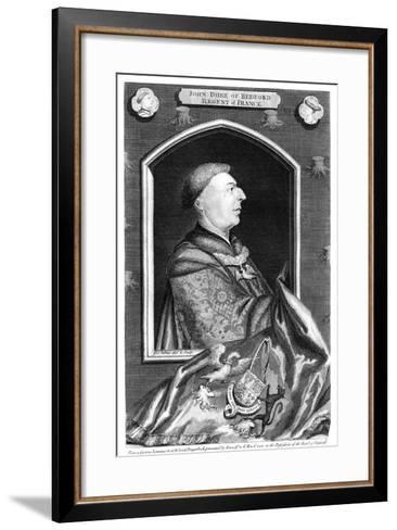 John of Lancaster, 1st Duke of Bedford-George Vertue-Framed Art Print