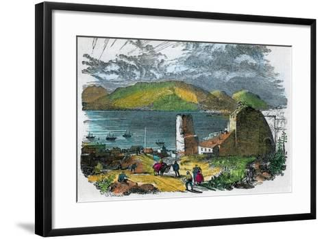 Algeciras, Spain, and Bay of Gibraltar from the Old Moorish Castle, Gibraltar, C1880-GF Sargent-Framed Art Print