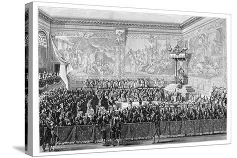 Parliament Meeting, Versailles 1776- Girardet-Stretched Canvas Print