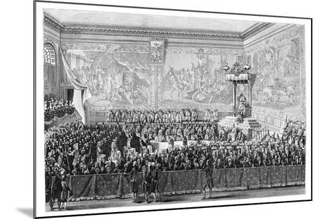 Parliament Meeting, Versailles 1776- Girardet-Mounted Giclee Print