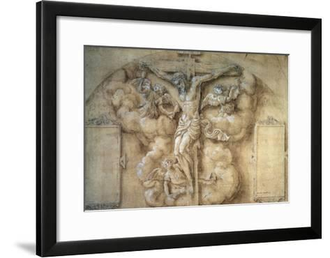 The Crucifixion, 1547-Giulio Campi-Framed Art Print