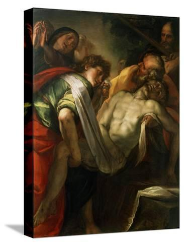 The Entombment of Christ, 1620S-Giulio Cesare Procaccini-Stretched Canvas Print