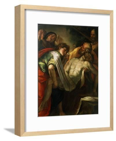 The Entombment of Christ, 1620S-Giulio Cesare Procaccini-Framed Art Print