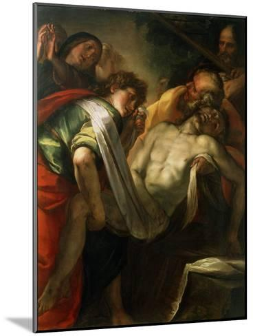The Entombment of Christ, 1620S-Giulio Cesare Procaccini-Mounted Giclee Print