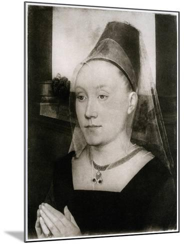 Barbara Van Vlaenderbergh, Wife of Guillaume Moreel, C1480-Hans Memling-Mounted Giclee Print