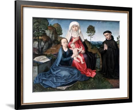 St Anne, the Virgin and Child and a Donor-Hans Memling-Framed Art Print