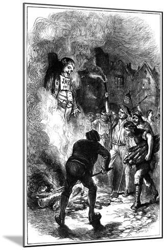 Burning John Jay's Effigy, C1794- Hooper-Mounted Giclee Print