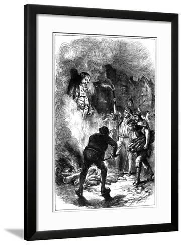 Burning John Jay's Effigy, C1794- Hooper-Framed Art Print