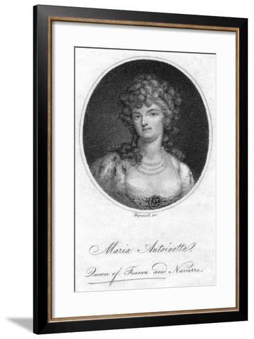 Marie Antoinette, Queen Consort of Louis XVI of France- Hopwood-Framed Art Print