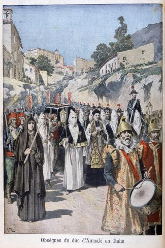 Funeral of the Duke of Aumale in Italy, 1897-Henri Meyer-Stretched Canvas Print