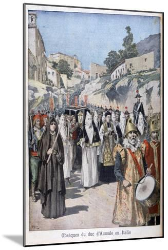 Funeral of the Duke of Aumale in Italy, 1897-Henri Meyer-Mounted Giclee Print