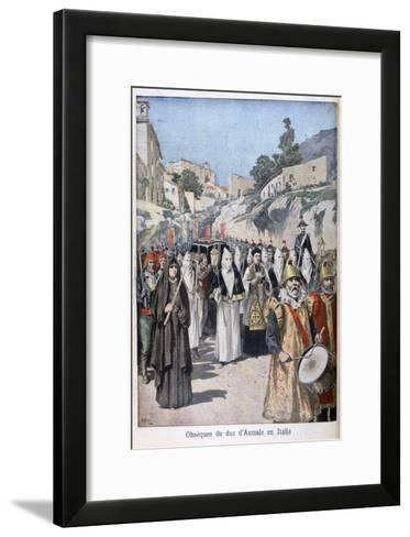 Funeral of the Duke of Aumale in Italy, 1897-Henri Meyer-Framed Art Print