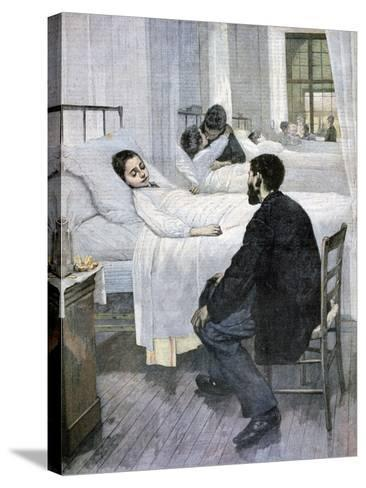 Visiting Day at the Hospital, 1893-Henry Jules Jean Geoffroy-Stretched Canvas Print