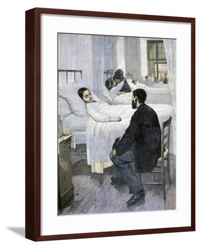 Visiting Day at the Hospital, 1893-Henry Jules Jean Geoffroy-Framed Art Print