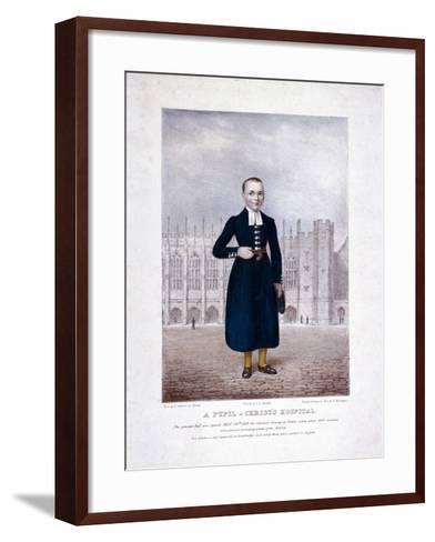 Christ's Hospital Pupil, London, 1829-Henry Kirchhoffer-Framed Art Print