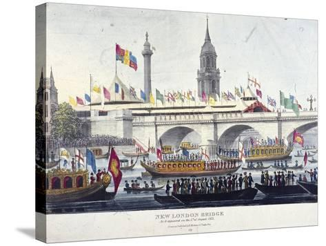 London Bridge, London, 1831-Henry Matthews-Stretched Canvas Print