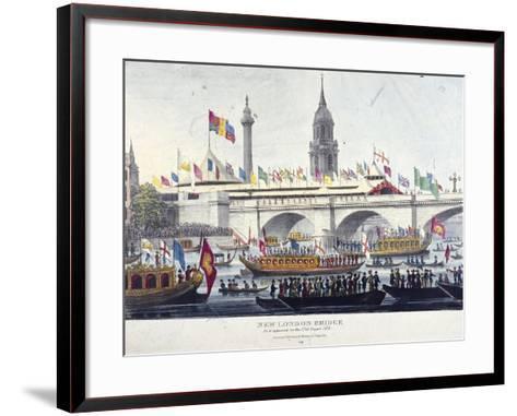 London Bridge, London, 1831-Henry Matthews-Framed Art Print