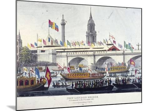 London Bridge, London, 1831-Henry Matthews-Mounted Giclee Print
