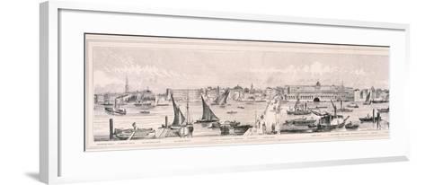 Panoramic View of London, 1844-Henry Vizetelly-Framed Art Print