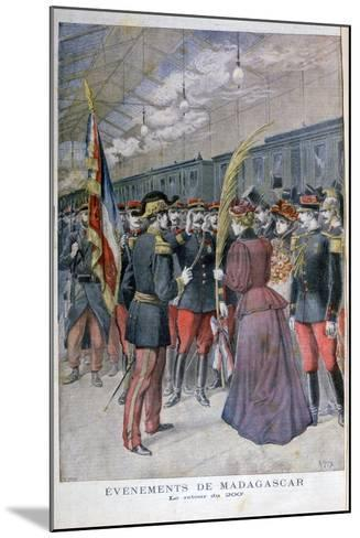 The Return of the 200 Regiment from Madagascar, 1896-Henri Meyer-Mounted Giclee Print