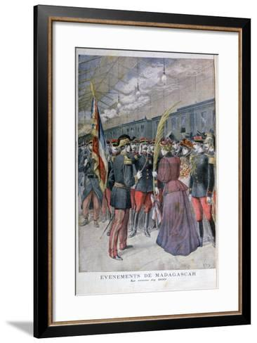 The Return of the 200 Regiment from Madagascar, 1896-Henri Meyer-Framed Art Print