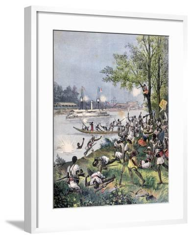 Attack on the Villagers of Dahomey by the French, 1892-Henri Meyer-Framed Art Print