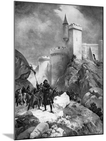 King Richard I (1157-119) Receiving His Death Wound before the Castle of Chaluz, 19th Century-Henri-Louis Dupray-Mounted Giclee Print