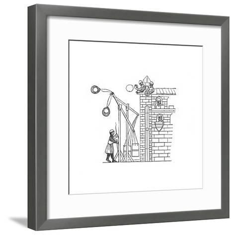 Siege Machine, C1260-Henry Shaw-Framed Art Print