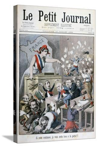 Caricature of the Chamber of Deputies, Paris, 1898-Henri Meyer-Stretched Canvas Print