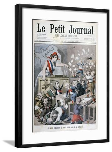 Caricature of the Chamber of Deputies, Paris, 1898-Henri Meyer-Framed Art Print