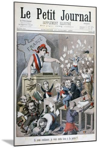 Caricature of the Chamber of Deputies, Paris, 1898-Henri Meyer-Mounted Giclee Print