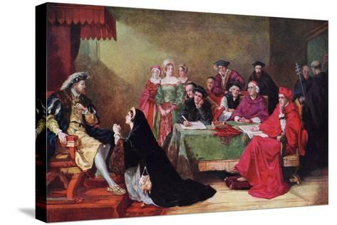 The Trial of Queen Catherine, 19th Century-Henry Nelson O'Neil-Stretched Canvas Print