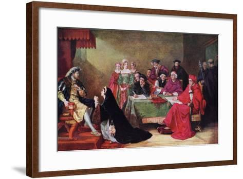The Trial of Queen Catherine, 19th Century-Henry Nelson O'Neil-Framed Art Print