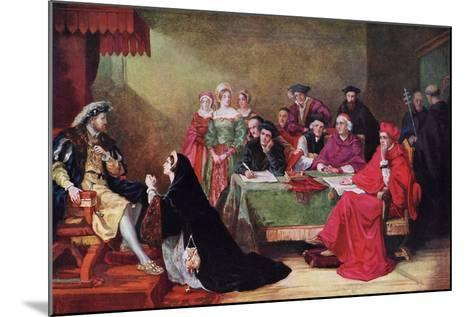 The Trial of Queen Catherine, 19th Century-Henry Nelson O'Neil-Mounted Giclee Print