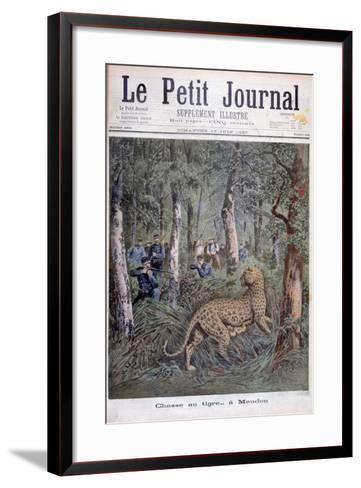 Hunting an Excaped Leopard, Meudon, Paris, 1897-Henri Meyer-Framed Art Print