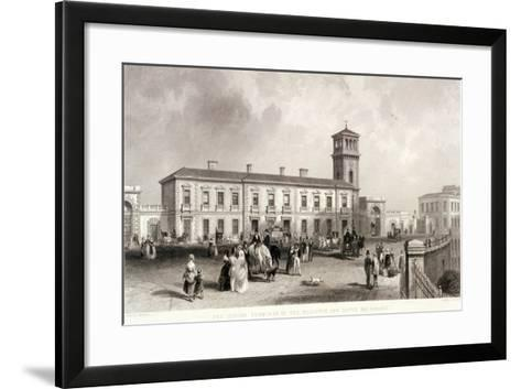 London Bridge Station, Bermondsey, London, 1845-Henry Adlard-Framed Art Print