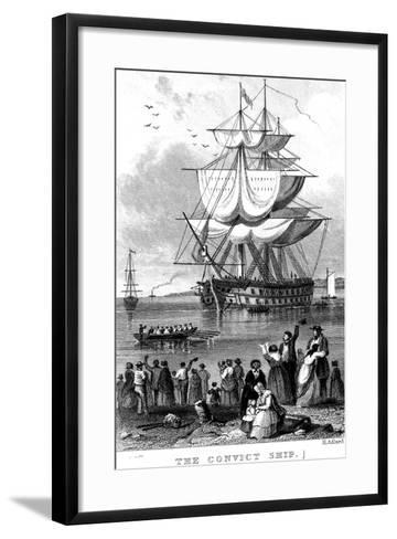The Convict Ship, C1820-Henry Adlard-Framed Art Print