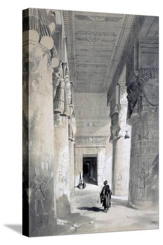 Temple of Denderah, Egypt, 19th Century-Henry Pilleau-Stretched Canvas Print