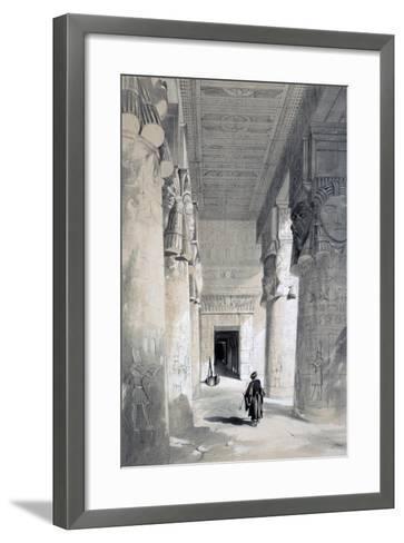 Temple of Denderah, Egypt, 19th Century-Henry Pilleau-Framed Art Print