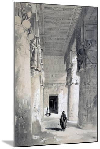 Temple of Denderah, Egypt, 19th Century-Henry Pilleau-Mounted Giclee Print