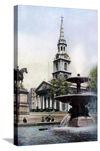 Church of St Martin-In-The-Fields, Trafalgar Square, London, C1930S-Herbert Felton-Stretched Canvas Print