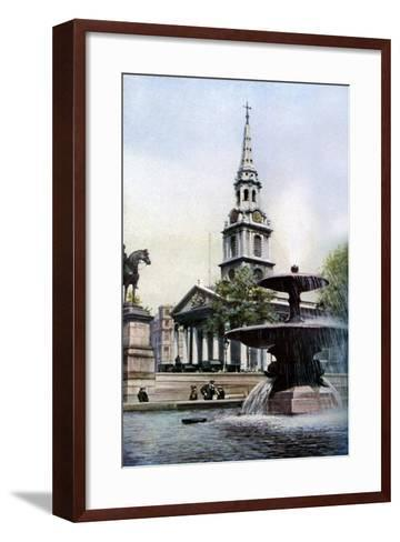 Church of St Martin-In-The-Fields, Trafalgar Square, London, C1930S-Herbert Felton-Framed Art Print
