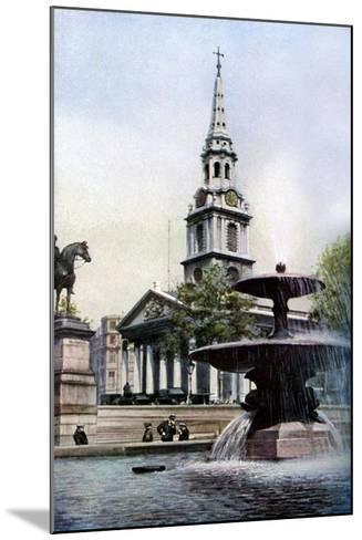 Church of St Martin-In-The-Fields, Trafalgar Square, London, C1930S-Herbert Felton-Mounted Giclee Print