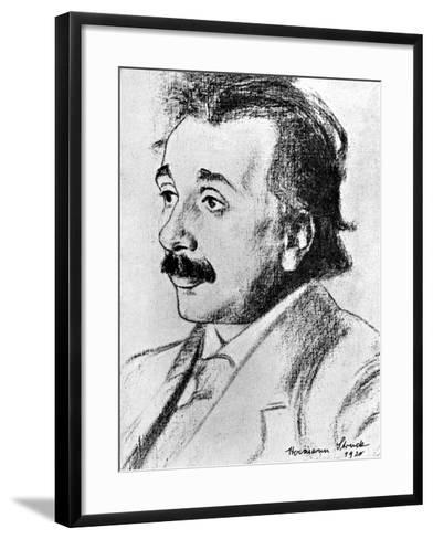 Albert Einstein (1879-195), German-Swiss Mathematician and Theoretical Physicist, 1920-Hermann Struck-Framed Art Print