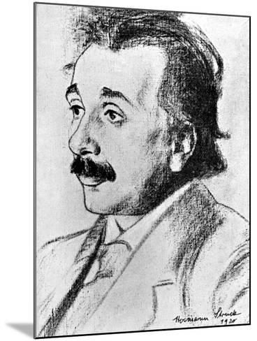 Albert Einstein (1879-195), German-Swiss Mathematician and Theoretical Physicist, 1920-Hermann Struck-Mounted Giclee Print