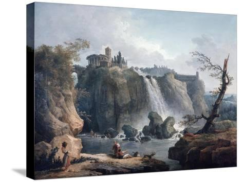 The Waterfall at Tivoli, 18Th/Early 19th Century-Hubert Robert-Stretched Canvas Print