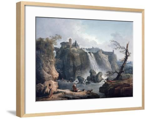 The Waterfall at Tivoli, 18Th/Early 19th Century-Hubert Robert-Framed Art Print