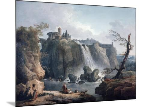 The Waterfall at Tivoli, 18Th/Early 19th Century-Hubert Robert-Mounted Giclee Print