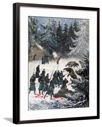 Bear Attack, Russia, 1892-Henri Meyer-Framed Art Print