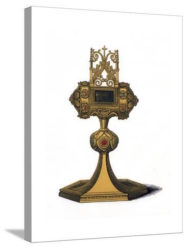 Reliquary, 15th Century-Henry Shaw-Stretched Canvas Print